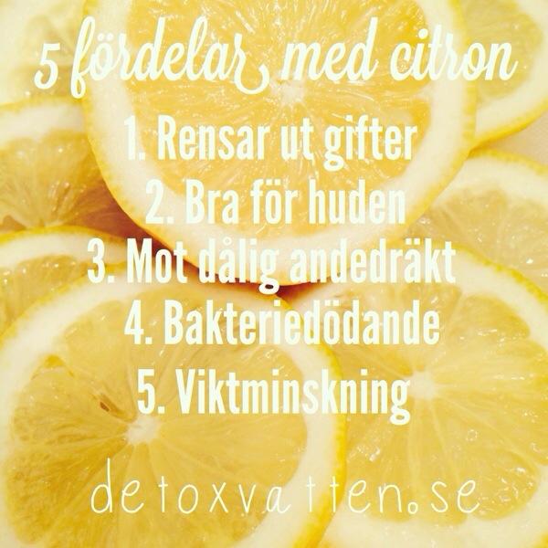 Detoxvatten 5 fördelar med citron